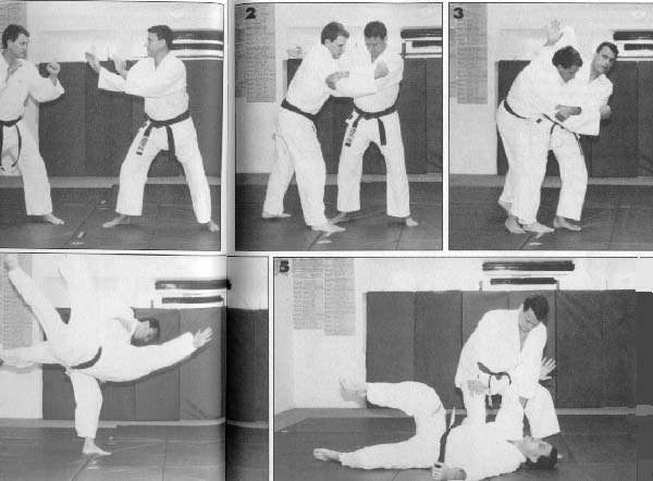 Master Reylson Gracie demonstrating a roundhouse defense punch.